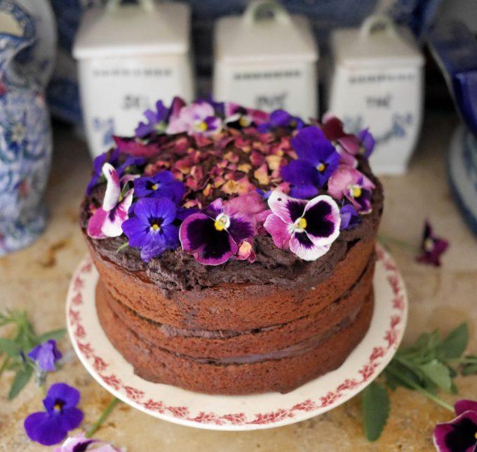 """""""Kladdkaka"""" Swedish Chocolate Fudge Cake"""