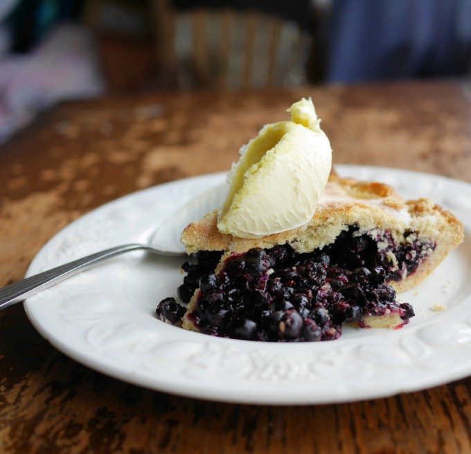 Bilberry Pie with Clotted Cream