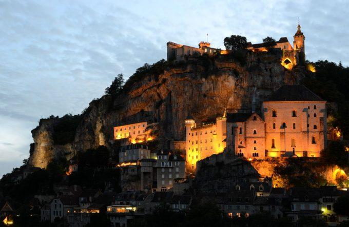Cité de Rocamadour de nuit