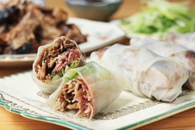 Crispy Duck Summer Rolls