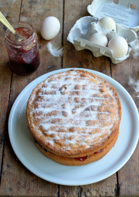 Duck Egg Victoria Sponge Cake