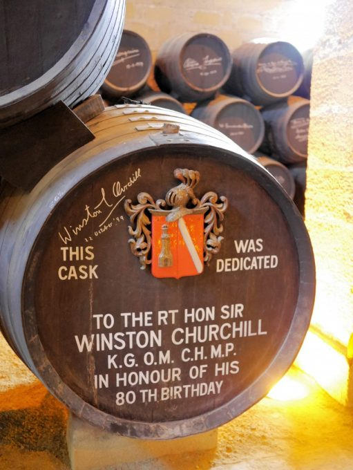 Sherry Barrel dedicated to Sir Winston Churchill