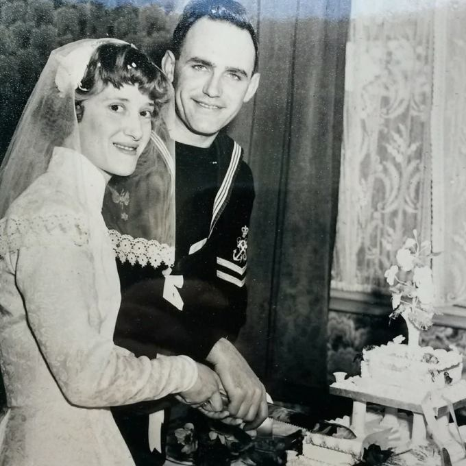 Mum and Dad on their Wedding Day in 1957