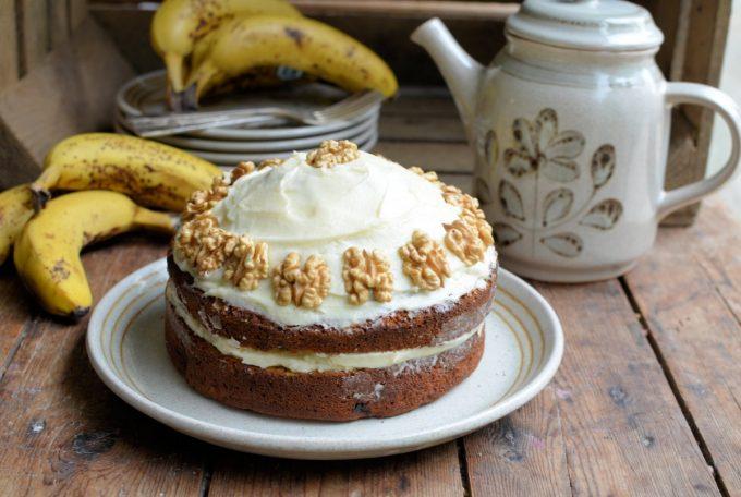 Going Bananas: Banana Bread Cake with Buttercream