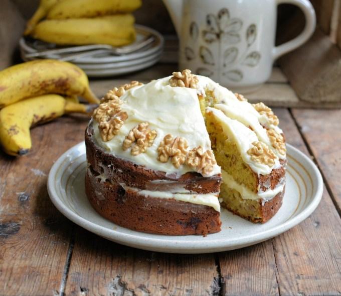Banana Bread Cake with Buttercream
