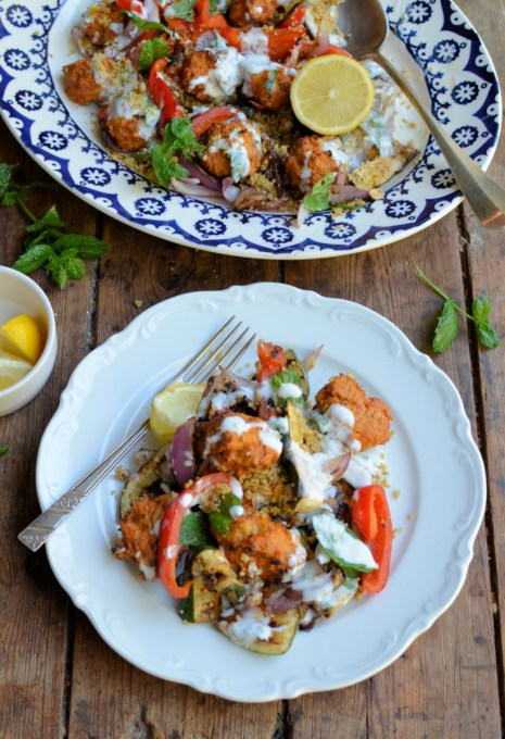 with Couscous and Griddled Vegetables