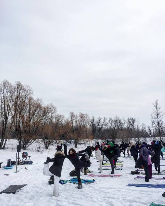 Celebrate winter and join your community of yogis for a one-of-a-kind yoga experience on a frozen lake.
