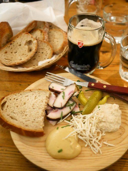 Krčma v Satlavské Ulici Starter of Lardo, Pickles and Bread