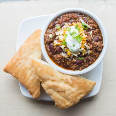 Thunderbird Cafe, Whistler - Venison Chilli with Fry Bread