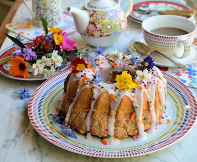Confetti Funfetti Chiffon Cake for Easter Sunday Tea