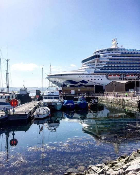 Caribbean Princess docked at Invergordon