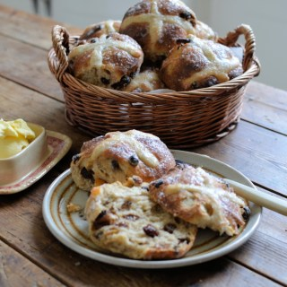 Sourdough Hot Cross Buns (