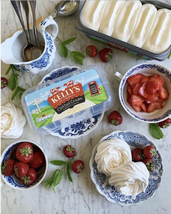 Ice Cream and Strawberry Pavlovas