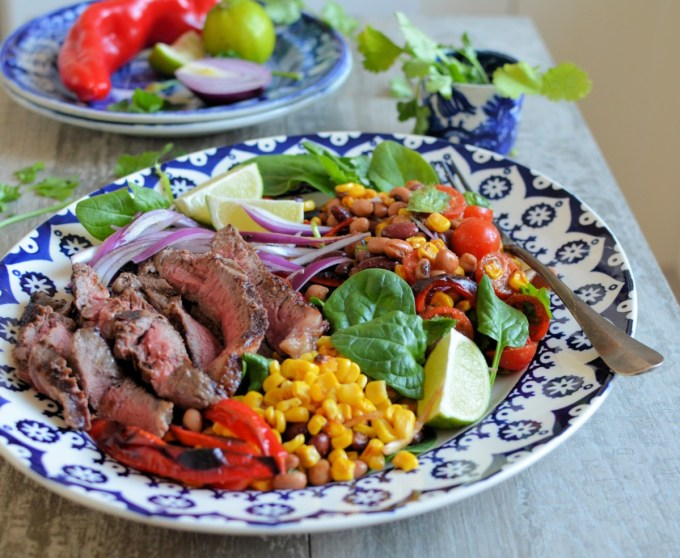 STEAK AND MEXICAN BEAN SALAD