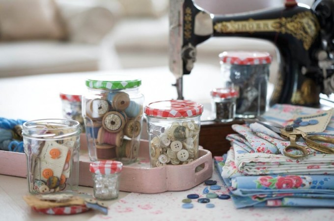 Bonne Maman's handy jars make it much simpler to organise all the bits and bobs in an efficient and attractive way.