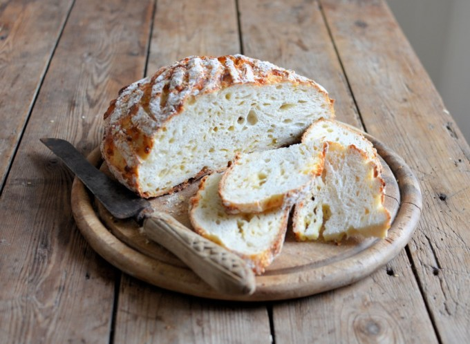 Cheese and Garlic Sourdough Bread