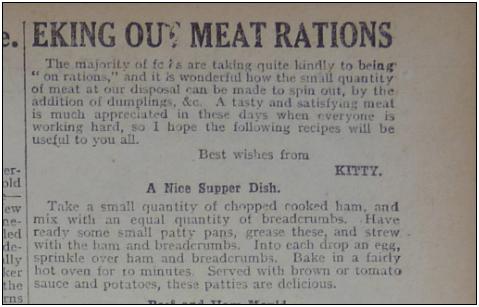 WW1 Recipe