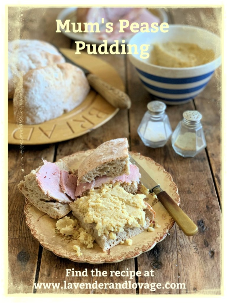 Boiled Ham and Pease Pudding in Stotty Bread using Mum's Pease Pudding Recipe