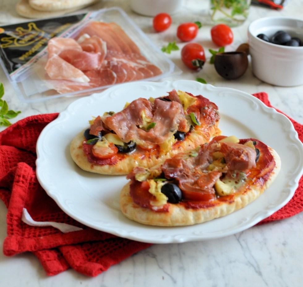 Parma Ham Pitta Bread Pizza