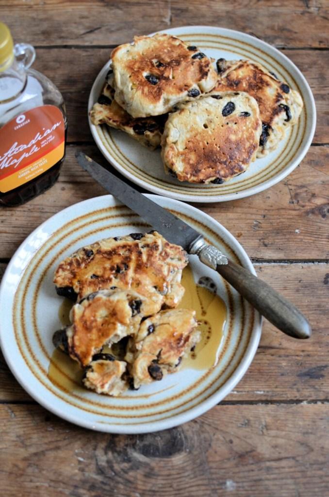 Raisin Bread Sourdough Hotcakes