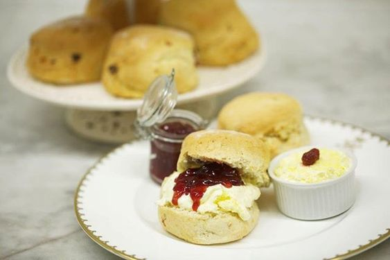 Highclere Castle Scones with Jam and Cream