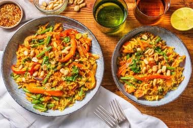 Nice 'n' Spicy Golden Rice with Veggie Jewels