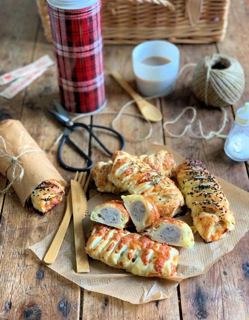 Picnic Cheesy Sausage Rolls