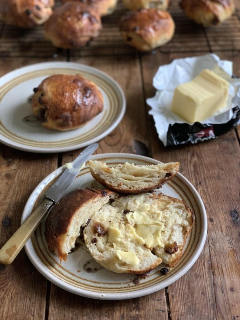 Yorkshire Sticky Fruit Buns - Sourdough