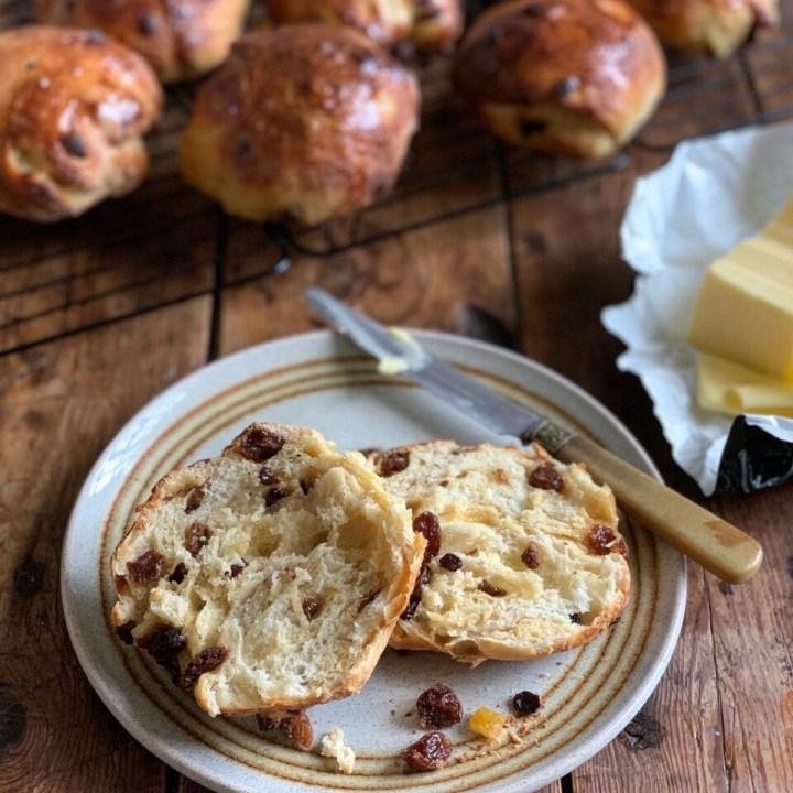 Yorkshire Sticky Fruit Buns Sourdough