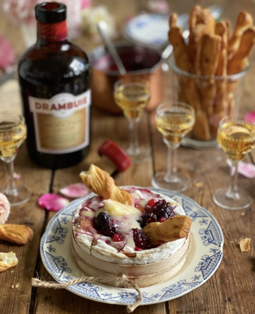 Baked Camembert with Drambuie and Summer Fruit Compote