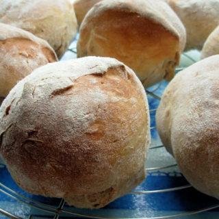 Antipasti Salad and Ciabatta Bread Rolls