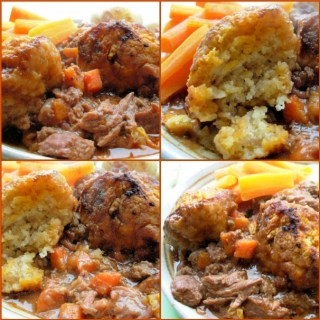Slow Sunday and A Winter's Walk Beef and Carrot Stew with Herb Crusted Dumplings