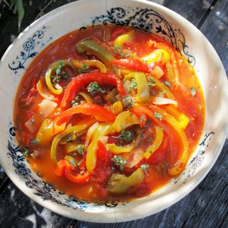Summertime and the Living is Easy……..Peperonata ~ Rustic Italian Pepper Stew Recipe