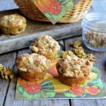 Pumpkin, Walnut & Poppy Seed Muffins with Cheddar Cheese
