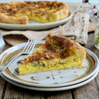 A Good Friday Pie: Wild Garlic and Blue Wensleydale Tart