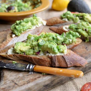 Avocado Love! South African style Guacamole and Cream Cheese Tartines