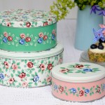 Set 3 Cake Tins Rambling Rose