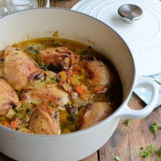 """Cast Iron Recipes! Cooking with """"Le Creuset"""": Comfort Chicken Casserole"""