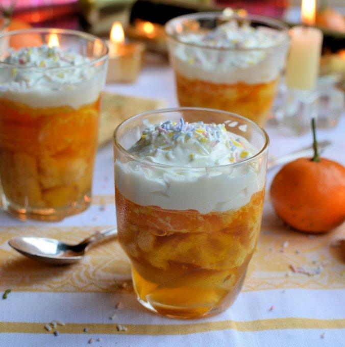 Mini Clementine Jelly Trifles