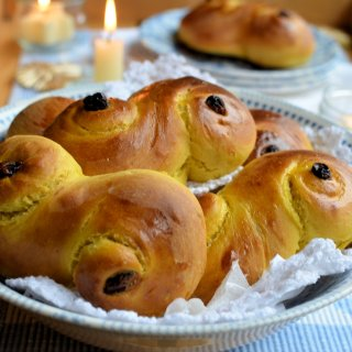 Lussekatter – St Lucia Saffron and Cardamom Sweet Buns for St Lucy's Day