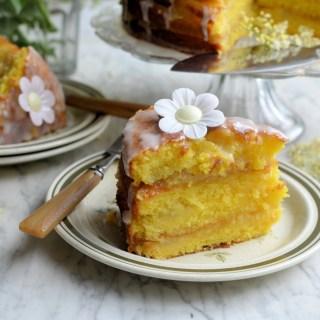 Apple, Lemon and Elderflower Drizzle Cake