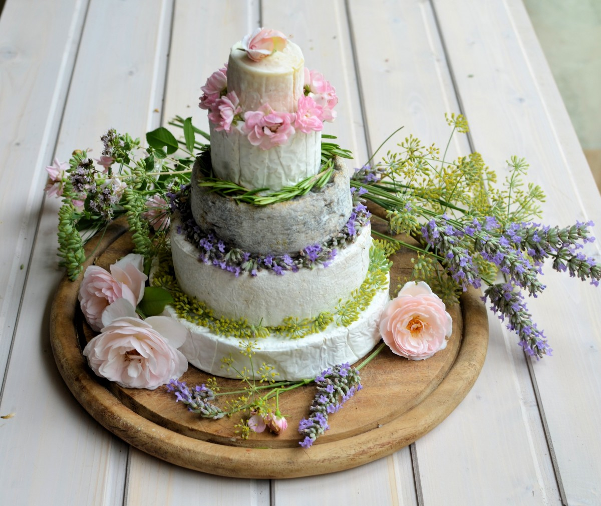 Amethyst Cheese Wedding Cake: Summer French Cheese Cake Tower