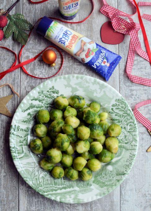 Parsnip, Potato & Sprouts Cheese Gratin