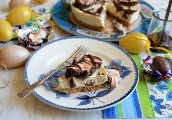 Creme Egg Cheesecake for Easter