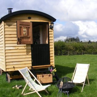 A Shepherd's Hut and Fine Food in Wiltshire