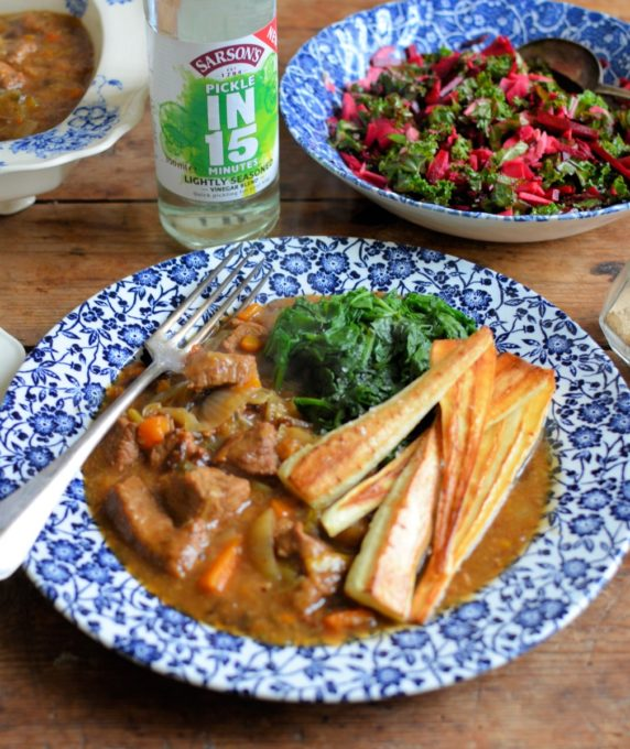 Beef Braise & Quick Pickle (