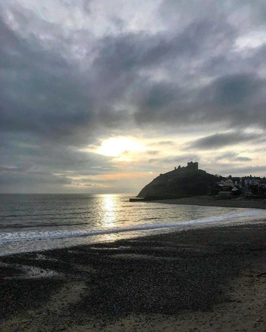 Criccieth Beach and Castle
