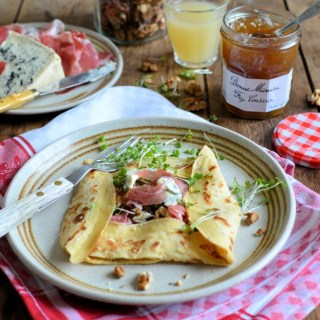 Blue Cheese, Ham and Fig Conserve Crêpes
