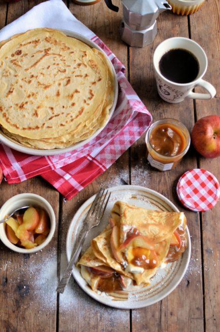 Salted Caramel Apple Pancakes