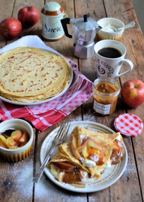 Salted Caramel Apple Pancakes